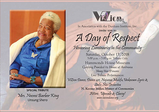 A Day of Respect 2018 Honoree, Mrs. Naomi Barber King
